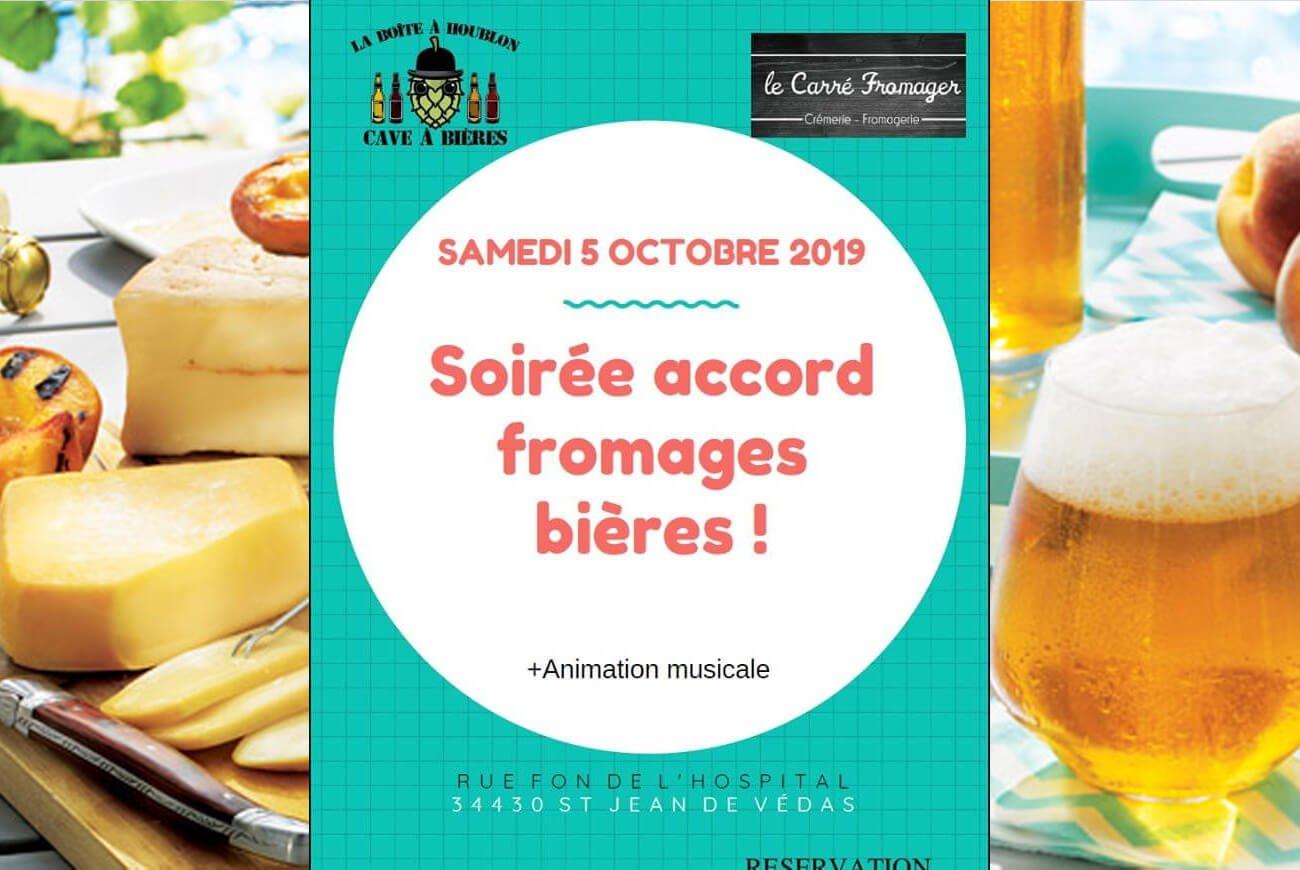 soirée accord fromages et bières - Montpellier